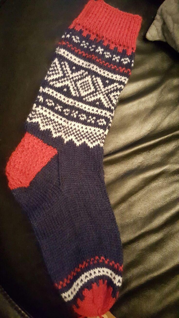 Knitted the Norwegian Marius socks.