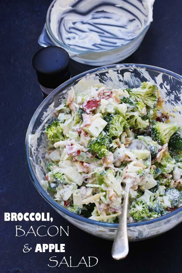 Broccoli, bacon apple salad by Scrummy Lane