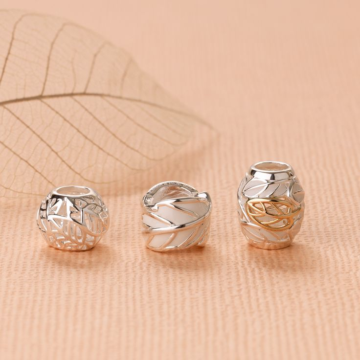 Emma & Roe Evergreen Collection #emmaandroe #charms #nature #gold #silver #rings