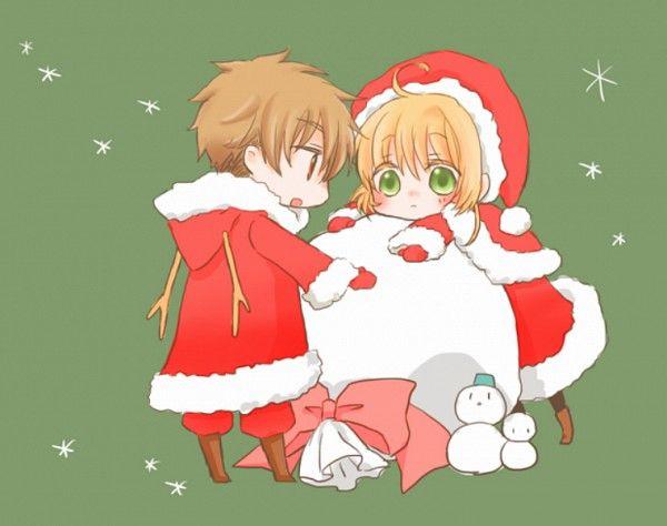 Tags: Anime, Cardcaptor Sakura, Li Syaoran, Kinomoto Sakura, Christmas, Christmas Outfit, Snowman