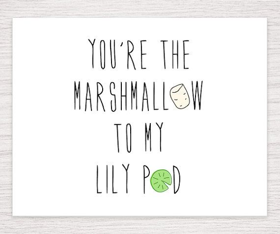 Marshmallow and lily pad, marshall and lily, Love Card, How I Met, HIMYM Card, valentine card, HIMYM cards, Funny Valentine Card, HIMYM