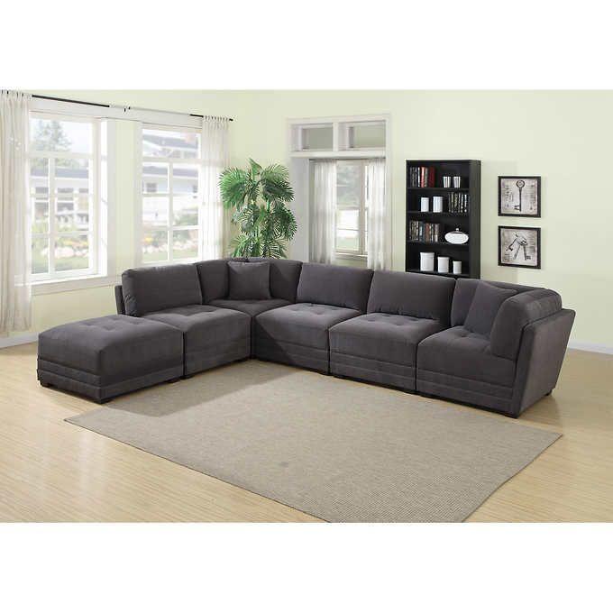Ethan 6 Piece Fabric Modular Sectional Fabric Sectional Sofas Sofa Design Sectional Sofa
