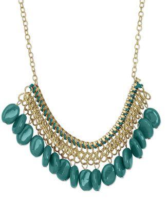 Kamz Turquoise stone round neckpiece Online, , LimeRoad. Rs250