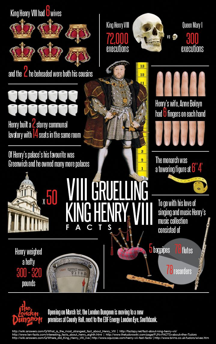 interesting facts about henry viii Edward vi was henry viii's son that henry finally had after going through 3 wives edward was well educated and later in his life founded schools around the uk.
