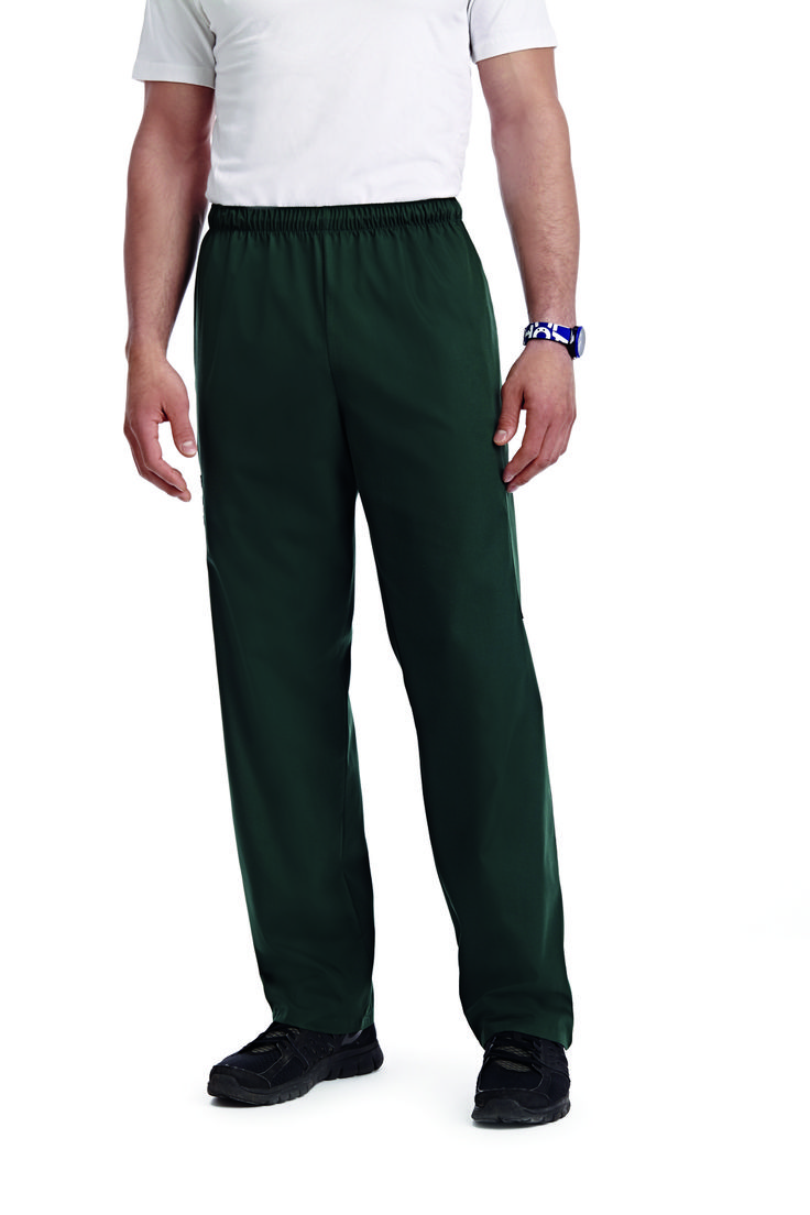 TALL DRAWSTRING/ELASTIC SCRUB PANT : A sensible tall fit for those in need of a longer inseam. A slightly higher waistline and a combination drawstring and elastic waistband make this scrub pant extremely versatile. Features a total of 5 pockets
