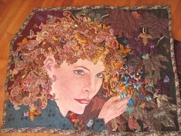 Art Quilts created by Jennifer Wheatley WolfFantastic Quilt, ღQuilt Art, Applique Quilt, Art Quilt, Portraits Quilt, Magnificient Quilt, Quilt People, 100000 Quilt, Photos Quilt