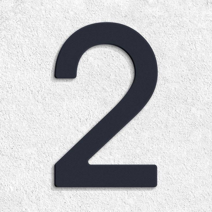 Thorwa® Avant Garde Edelstahl Hausnummer in RAL 7016 Moderne Hausnummer in der Schriftart Avant Garde. Hergestellt in 35099 Burgwald. Die Ziffern werden ho