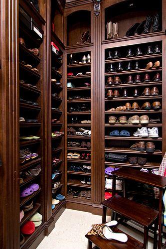 Men's Closet by In Detail Interiors: Wardrobe Menstyle, Big Closets, Closet Shoe Storage, Wardrobe Closets, Shoe Closet, Mens Closets, Closets Stacked, Shoe Spacesssssssss, Beautiful Closets