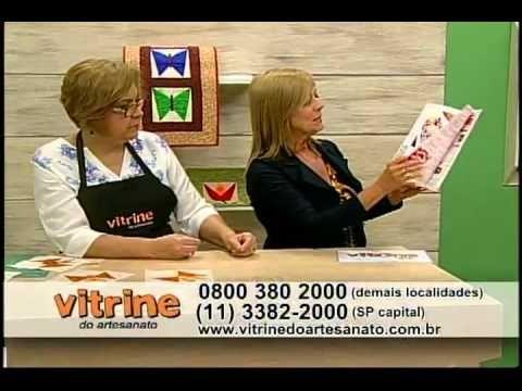 Trabalhos em Patchwork com Ana Cosentino - Vitrine do Artesanato na TV - YouTube