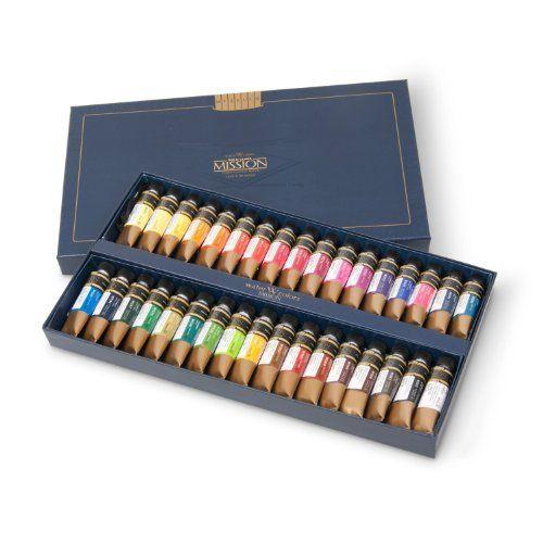 Mijello Mission Gold Water Colors Künstler-Aquarellfarben Set 34 Tuben à 15ml von MISSION GOLD, http://www.amazon.de/dp/B00EYB5NJO/ref=cm_sw_r_pi_dp_qOvRsb08DRD21