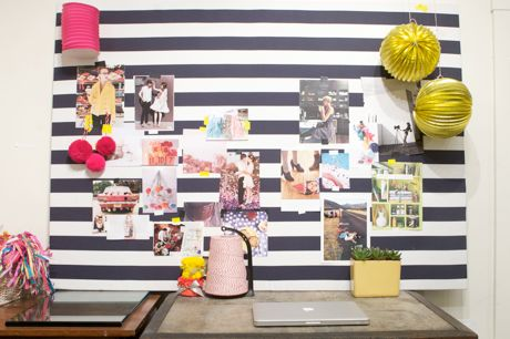 striped inspiration board
