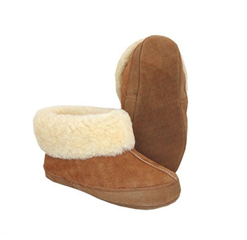 SALE VEGAS Slippers Sheepskin slippers Chestnut Wool Slippers. Warm & Lovely Genuine Slippers , PERFECT FOR GIFT. ankle Boot Slippers.Schaffell Pantoffeln / Hausschuhe Slipper (40)