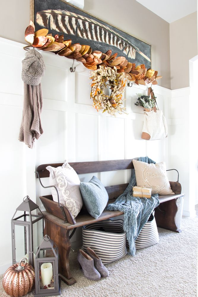 Best 25+ Fall entryway decor ideas on Pinterest | Front porch fall ...