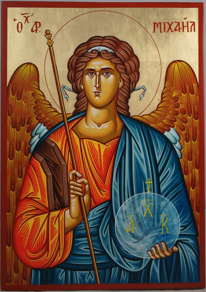 St Archangel Michaelhand-painted Byzantine icon About our icons BlessedMart offers hand-painted religious icons that follow the Russian, Greek, Byzantine and Roman Catholic traditions. We partner with some of the most experienced iconographers in the country. Artists with more than 20 years of experience in modern iconography. Each and every icon that we sell in our online store