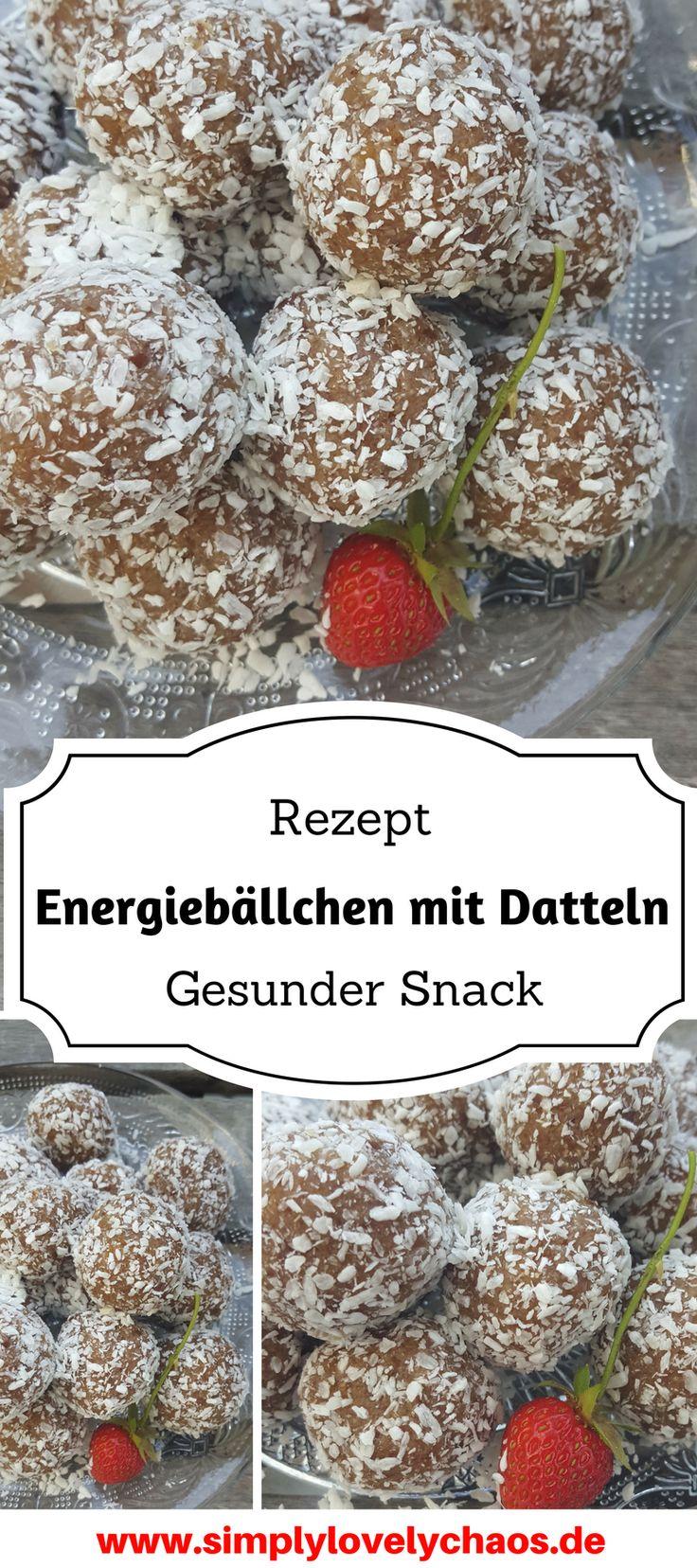 Hier findest du ein Rezept für gesunde Energiebällchen mit Datteln. Ein perfekter Snack, ob mit den Kindern auf dem Spielplatz, im Büro, oder nachts beim Stillen!
