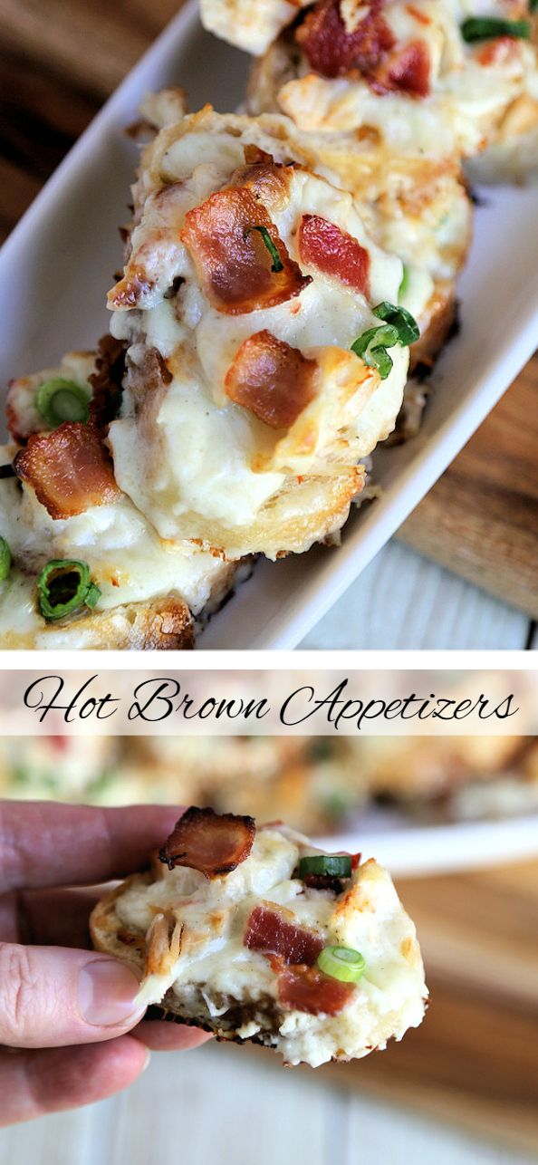 Hot Brown Appetizers ~ The classic Kentucky Hot Brown with a few twists to make it perfect for big game day fare. #RealCheesePeople #ad