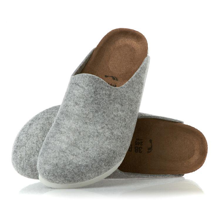Birkenstock Amsterdam Women's Slippers - Light Grey | Free Delivery