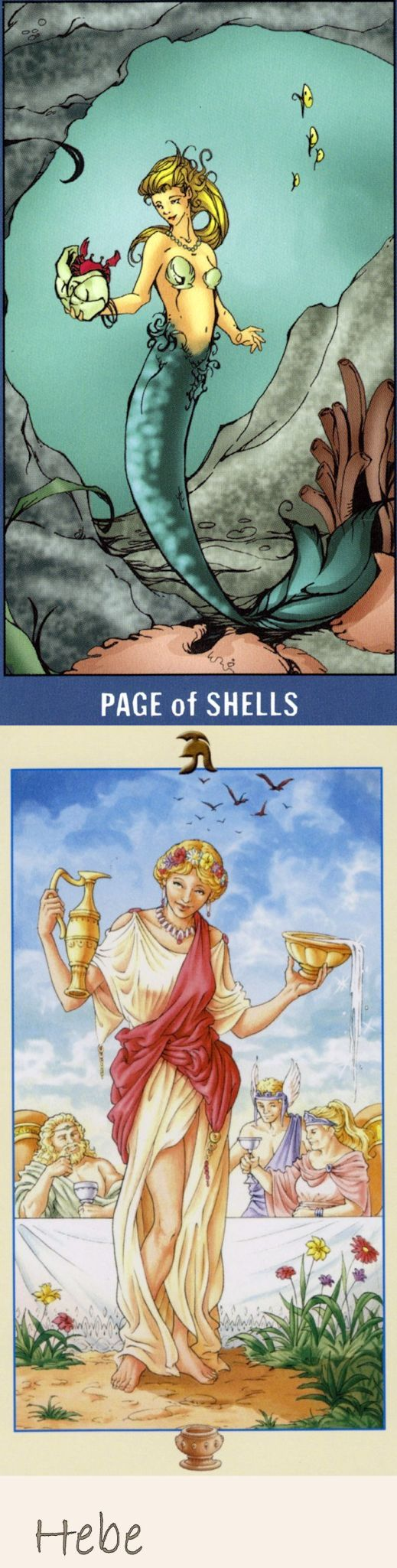 Page of Cups: appy surprise and immaturity (reverse). Undersea Tarot deck and Universal Goddess Tarot deck: free physic reading, tarotlearning vs free full tarot reading online. Best 2017 tarot bag pattern and playing cards design. #emperor #trickortreat #ios