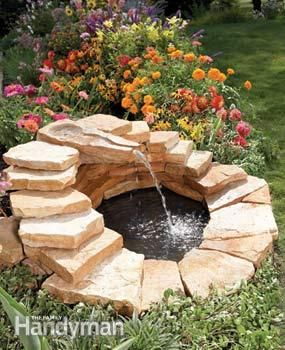 Instructions to build a fountain.  Love the look of this fountain!
