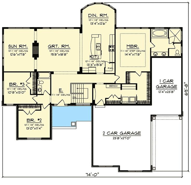 135 best 1800 to 2500 sq ft floor plans images on for How big is 2500 square feet