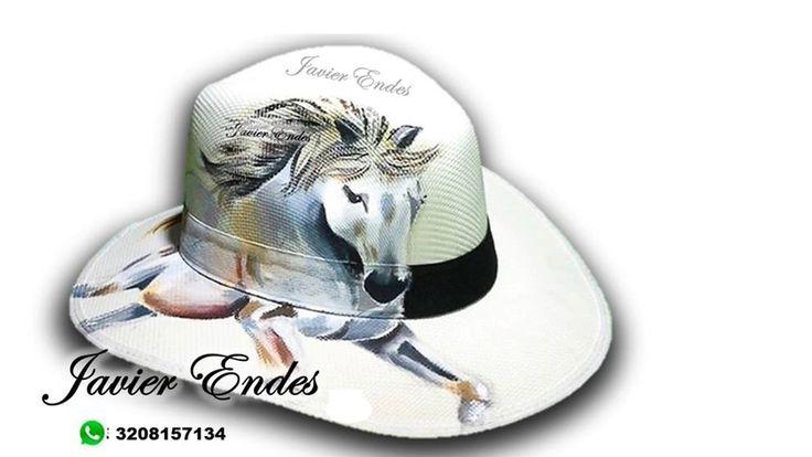 sombreros pintados - caballo. #sobrerospintadosamano #sombrerosparamujer #sombreroparaplaya #bolsosparadama