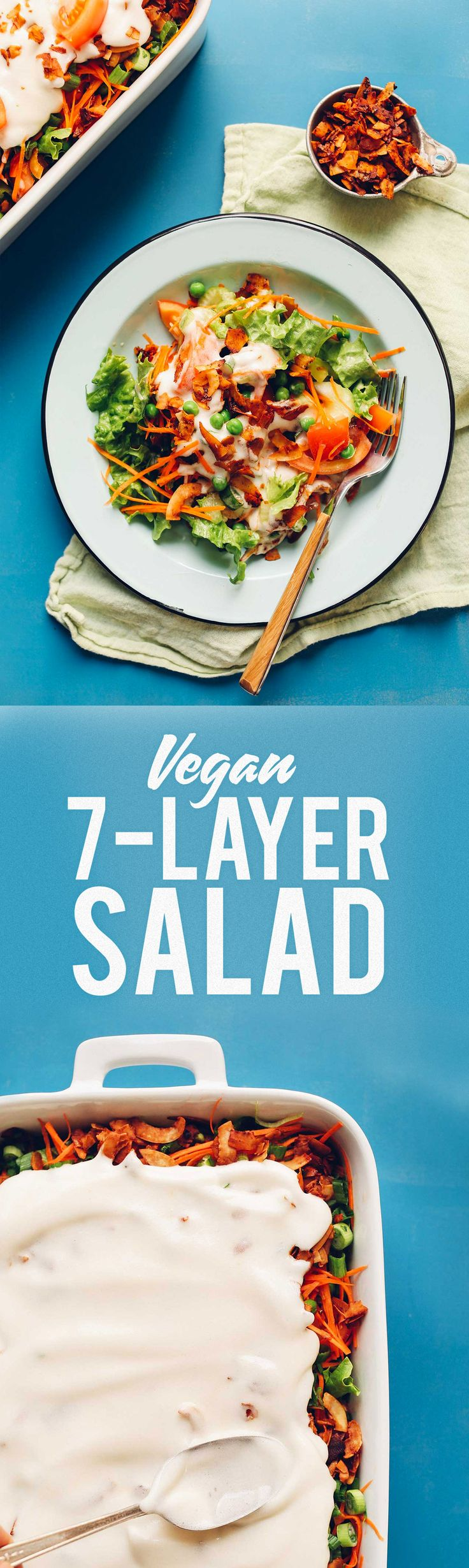 Vegan 7-Layer Salad Recipe! This classic salad gets a modern, healthy twist!