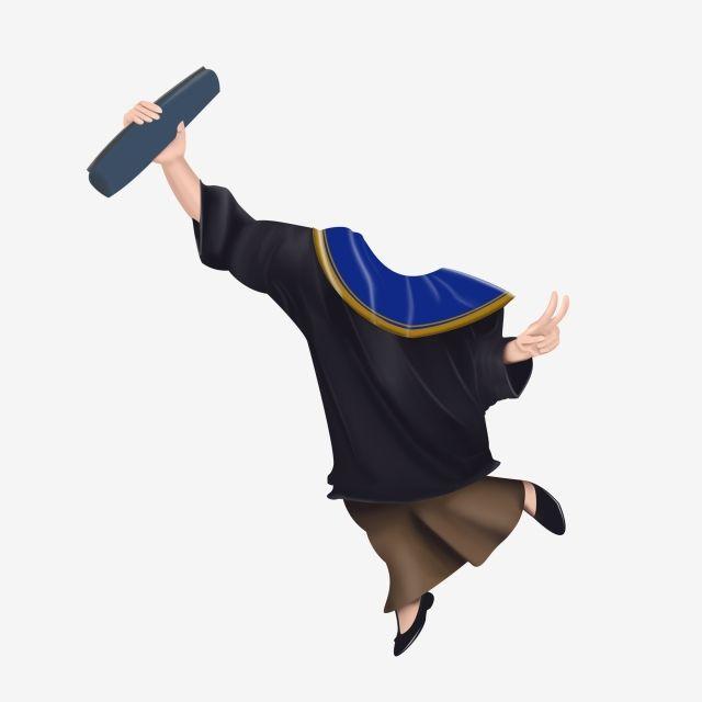 Desain Karikatur: Caricature Body Graduation 4 Free Logo Design Template