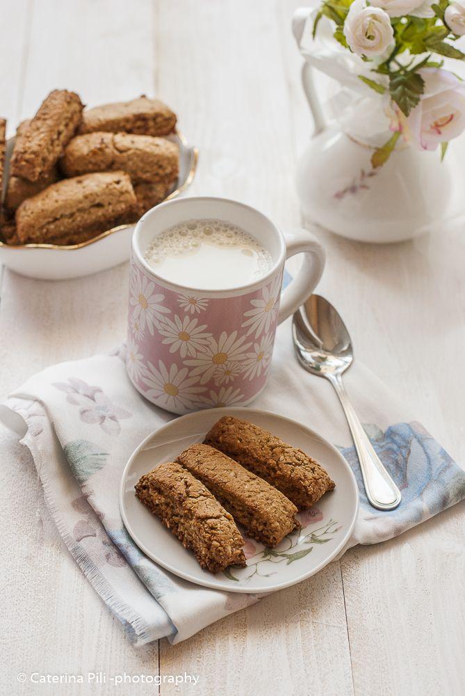 Biscotti integrali per la colazione senza burro senza uova senza lievito