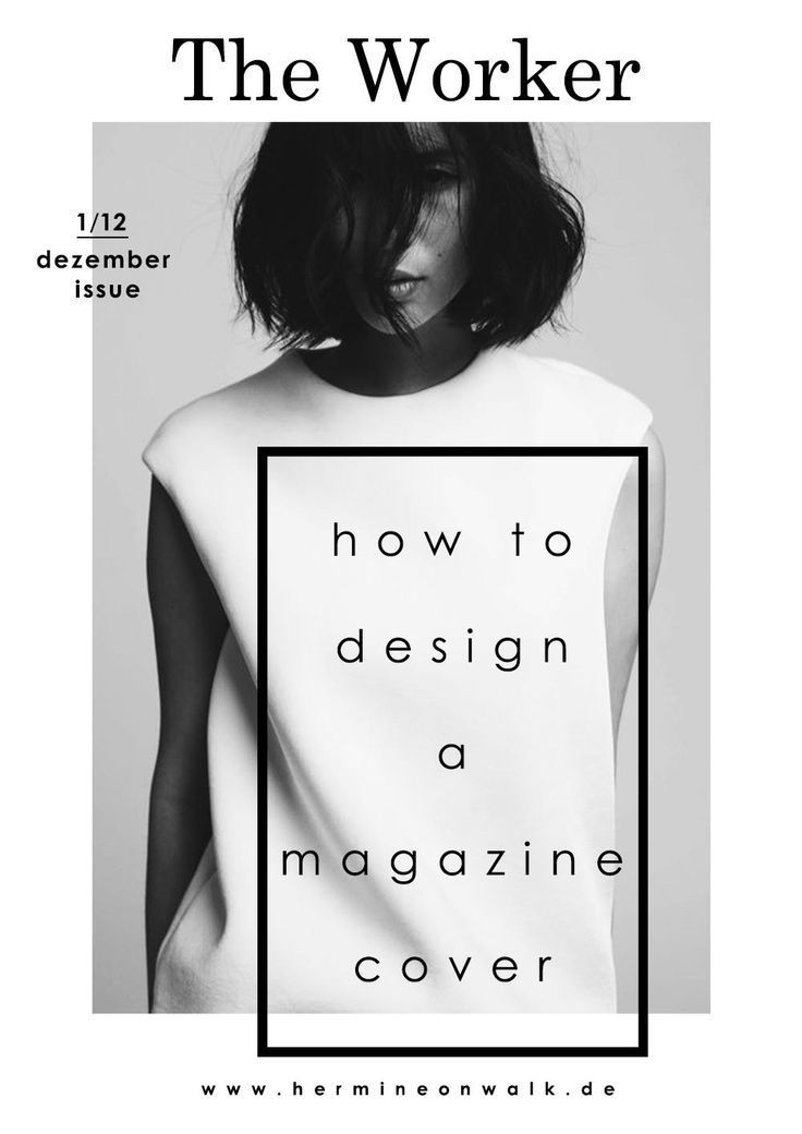 MAGAZINE COVER minimal design with a cool font