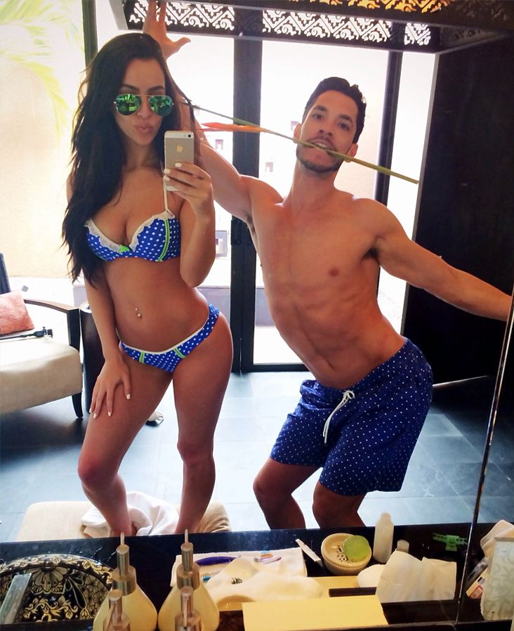 A lot of sexiness going on. Carli bybel and bf. bikini ...