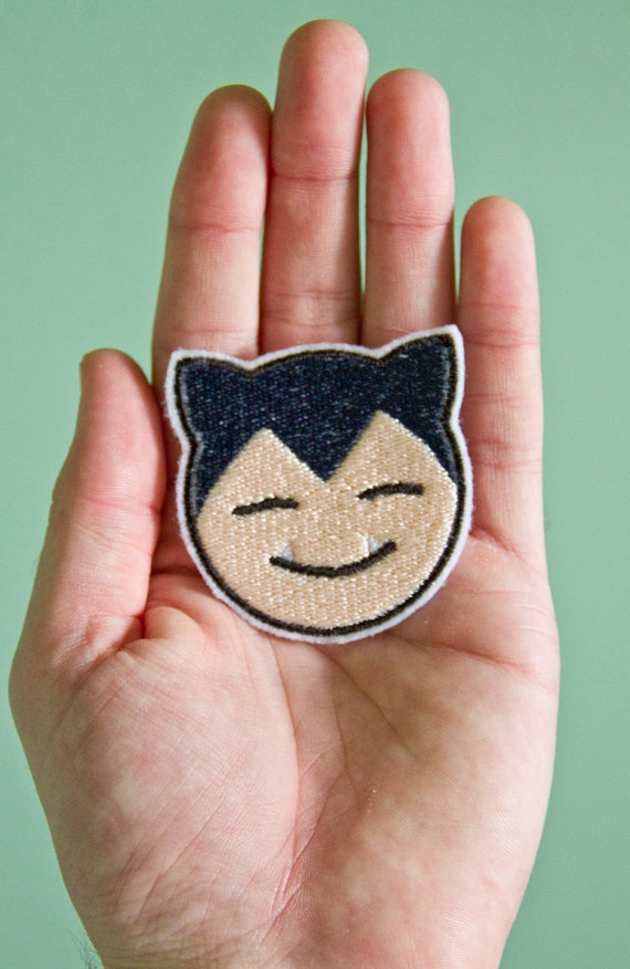 Snorlax  Embroidered Ironon Pokemon Patch by OKsmalls on Etsy, $5.00
