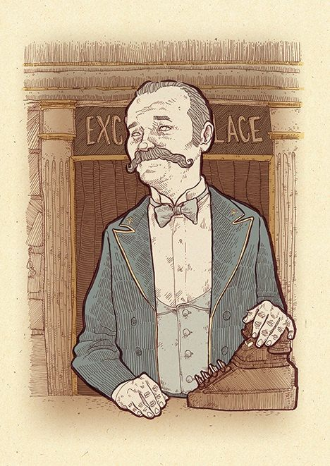 Bill Murray The Grand Budapest Hotel mounsieur Ivan art by suPmon, $22.00