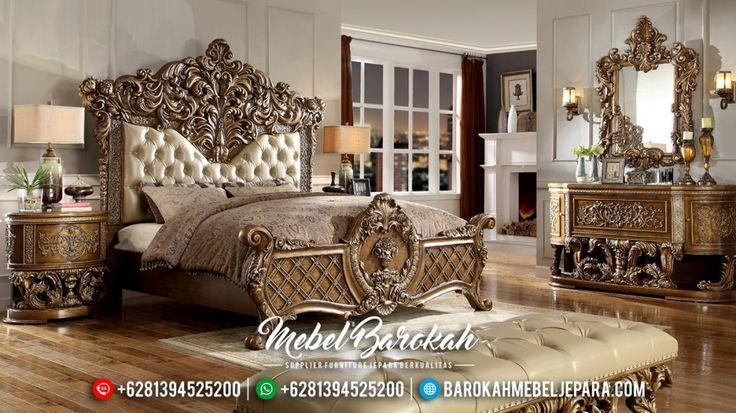Set Tempat Tidur Ukiran Mewah Mebel Jepara Klasik Murah Terbaru European Style JK-0407