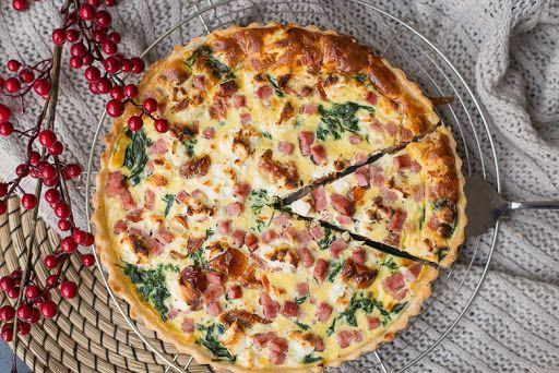 Quiche met spinazie en zongedroogde tomaat - Ohmyfoodness