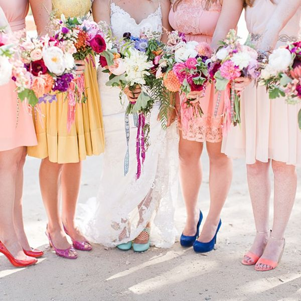 beautiful bouquets and bridesmaid dresses