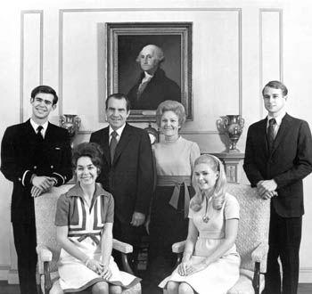 Nixon Family.....David Eisenhower, Julie Nixon Eisenhower, President Richard and Pat Nixon, Julie Nixon Cox, Edward Cox