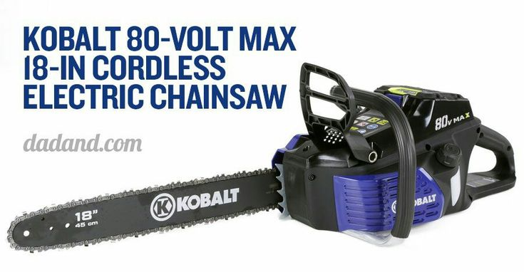 Kobalt 80V Max 18-inch Cordless Electric Chainsaw