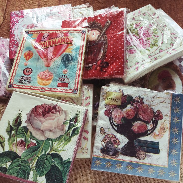 Napkin Papers Serviettens Decoupage Tissue  Decoupage Napkin Paper 33x33 cm (1/4 folded)  IDR 15.000/pc Send me your inquiry to yufihandcrafted@gmail.com   Shabby Chic Victorian Cottage Vintage Retro Rose Floral Flower Paper Napkins   And get a special discount on bulk order!