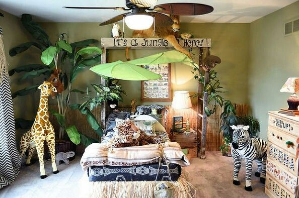 50 best wall murals paintings images on pinterest for Jungle theme kids room