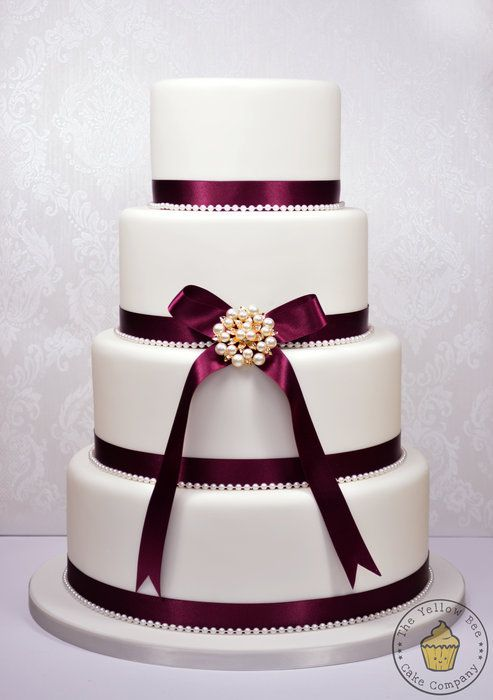 4 tier wedding cake. |Pinned from PinTo for iPad|