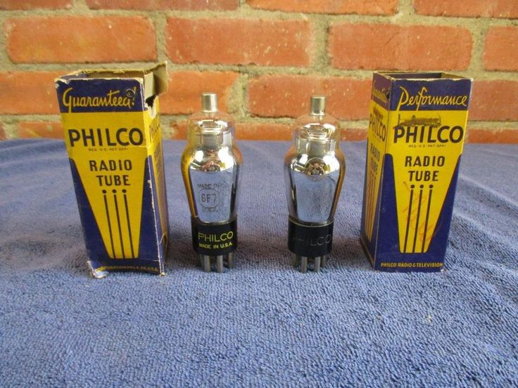 Lot of 2 Philco 6F7 Vacuum Tubes Tested NOS #Philco