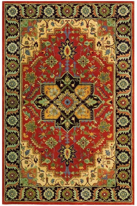 Normandie Area Rug: a wool area where the colors are as vibrant as they look. #HDCrugs HomeDecorators.com