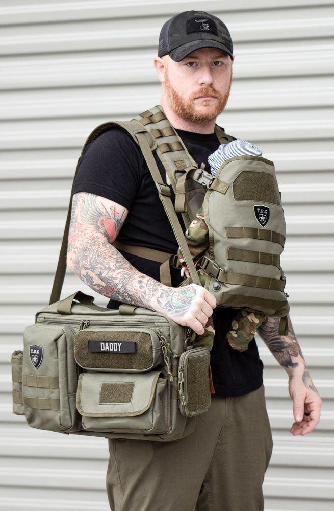 948a9eefd Tactical Baby Gear Deuce 2.0 and Tactical Baby Carrier in Ranger Green. Best  baby gear for new Dads. Essential diaper back check list available.