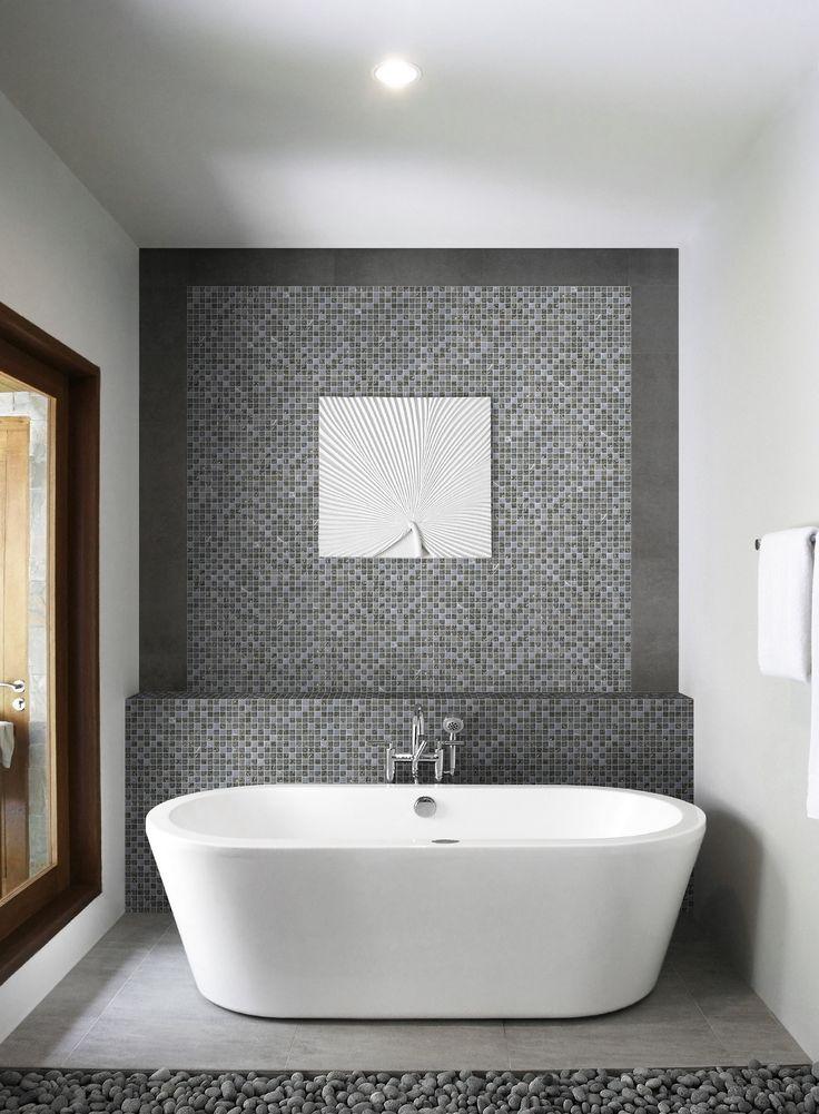 jolie salle de bain avec mur du fond en mosa que salledebain batiorient 1 5 x 1 5 cm avec un. Black Bedroom Furniture Sets. Home Design Ideas