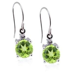 Bright green to match your eyes: Diamond Fish, Fish Hook Earrings, Round Peridot, Earrings Jewelry, Fish Hooks, Eye