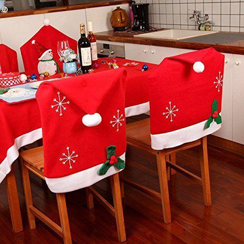 PcsPce Christmas Snowflake Red Hat Chair Cover Kitchen Di... https://www.amazon.com/dp/B01NA77JVS/ref=cm_sw_r_pi_dp_x_hWBxyb9SY5ZQS