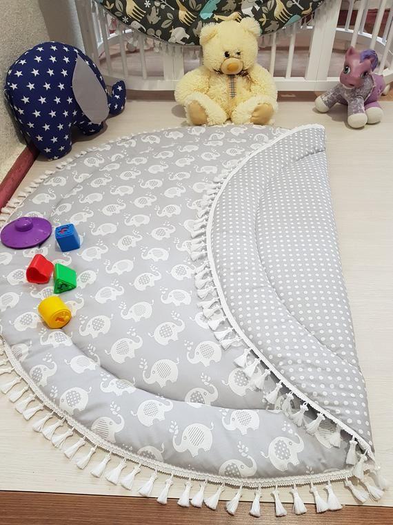 Baby Play Mat Mat For Baby S Photos Round Play Mat Reversible Play Mat Padded Baby Mat Nursery Decor Floor Mat Kids Mat Baby Mat In 2020 Baby Play Mat Baby Pillows Baby