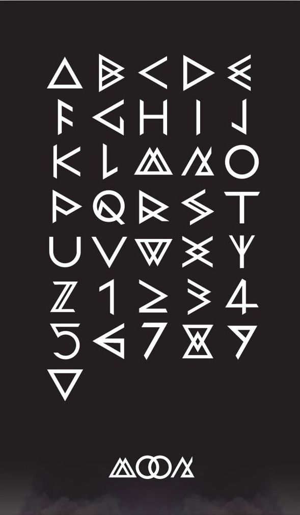 Equilateral triangle font