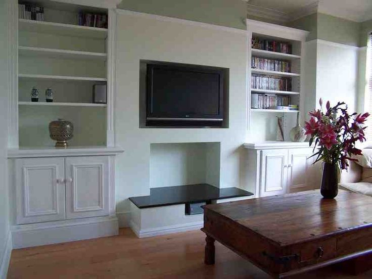 Alcove Shelves And Cupboard