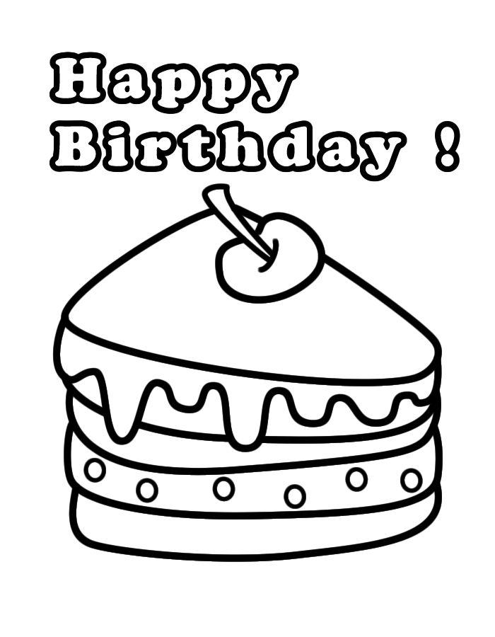 happy birthday kleurplaat jarig met afbeeldingen